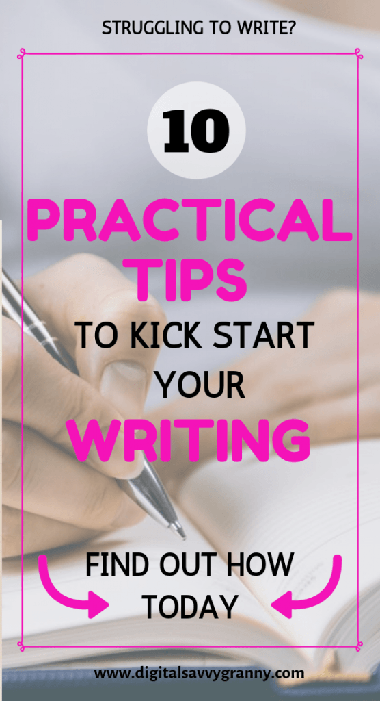 Kickstart your writing-write-writingtips